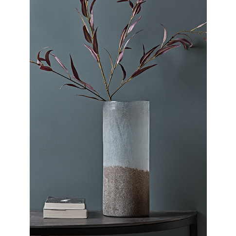 NEW Two Tone Frosted Glass Vase