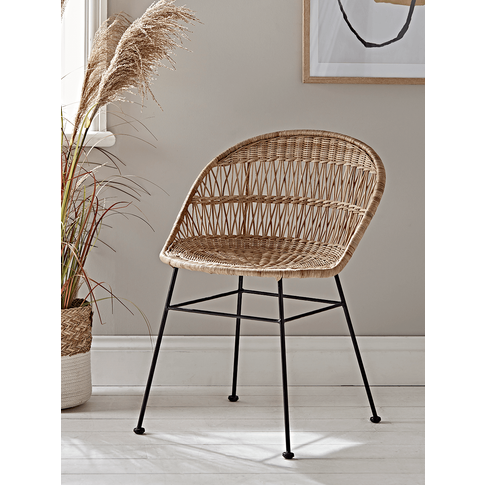 New Wicker Round Dining Chair