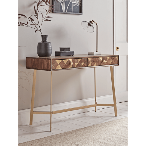 New Geometric Inlay Console Table