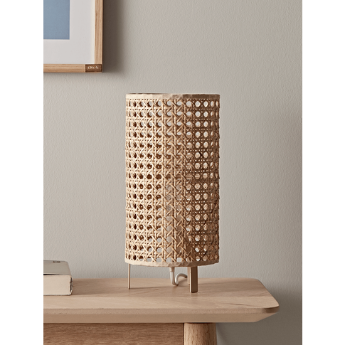 New Woven Cane Table Lamp