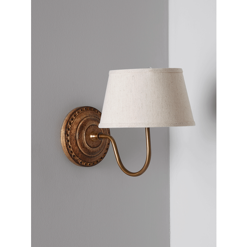 New Linen & Brass Wall Light