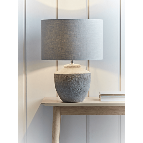 NEW Textured Concrete Table Lamp