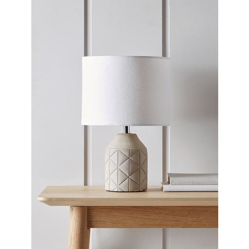 NEW Geometric Bedside Lamp - Grey