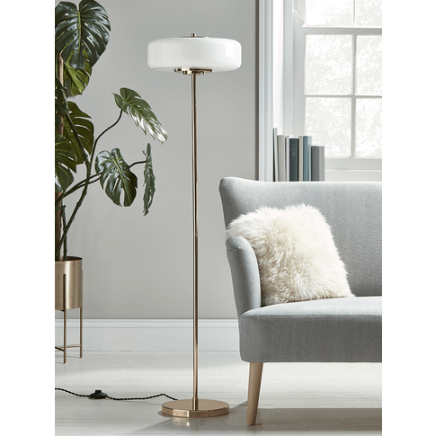 New Gold & White Deco Floor Lamp