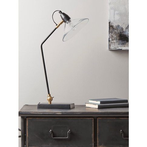 New Ribbed Glass Shade Desk Lamp
