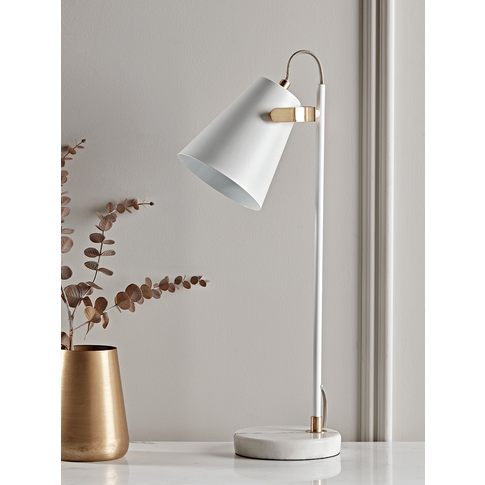 NEW Marble White Desk Lamp