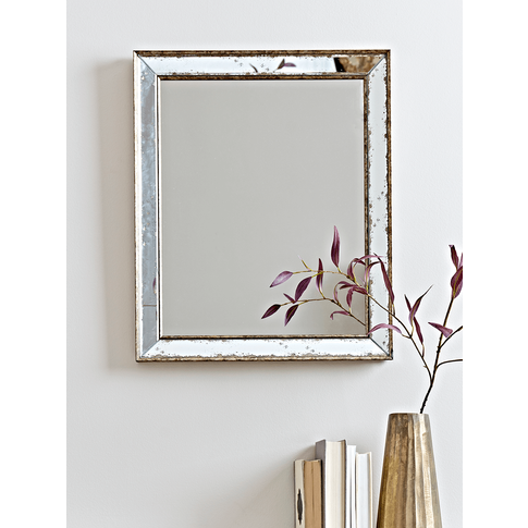 New Antiqued Glass Frame Mirror - Large