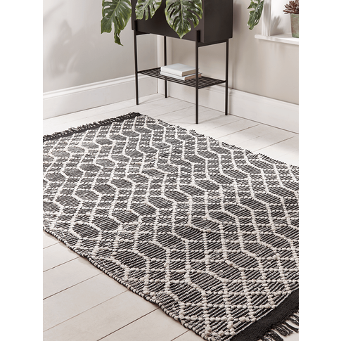 New Geometric Handwoven Rug