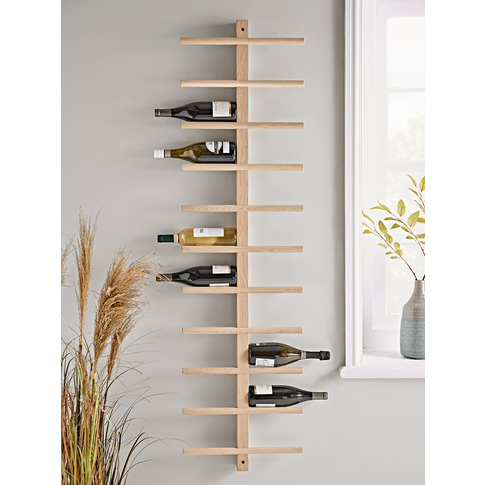 NEW Oak Wall Wine Rack