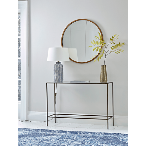 Burnished Gold & Glass Console Table
