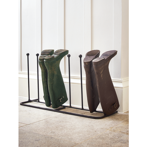 Four Pair Metal Boot Rack