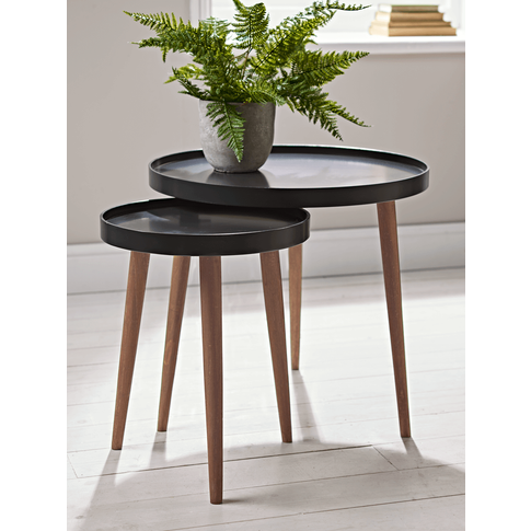 Lina Side Table Large - Charcoal
