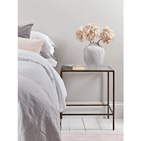 Burnished Gold & Glass Bedside Table