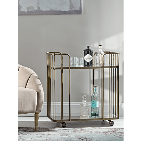 Mirrored Drinks Trolley