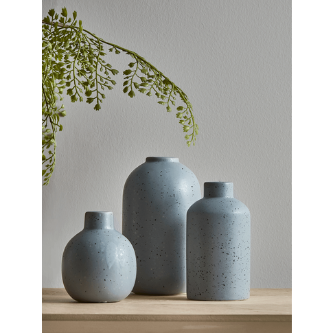 New Three Speckled Bud Vases - Soft Grey