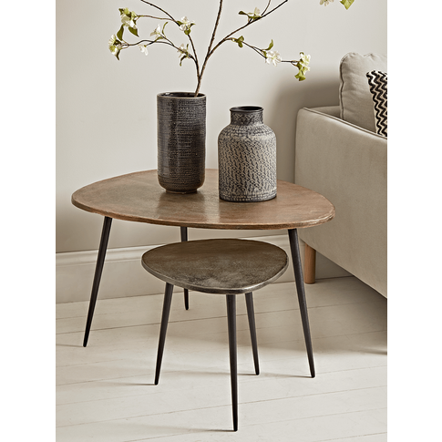 Two Textured Nesting Tables