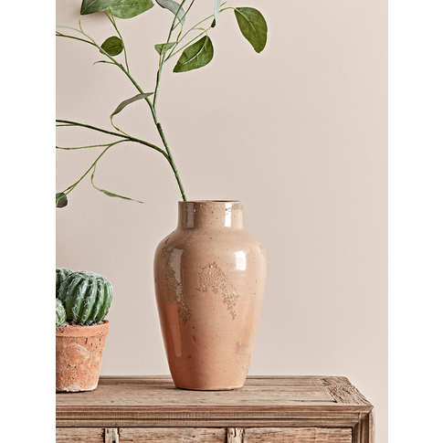 Glazed Earthenware Vase