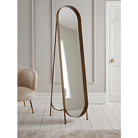 New Brushed Gold Full Length Mirror