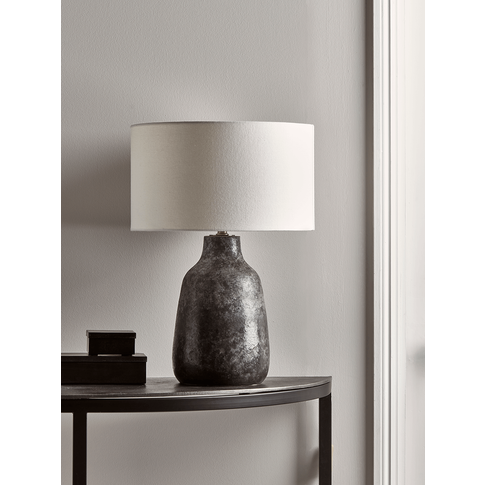 Grey Ombre Glazed Table Lamp