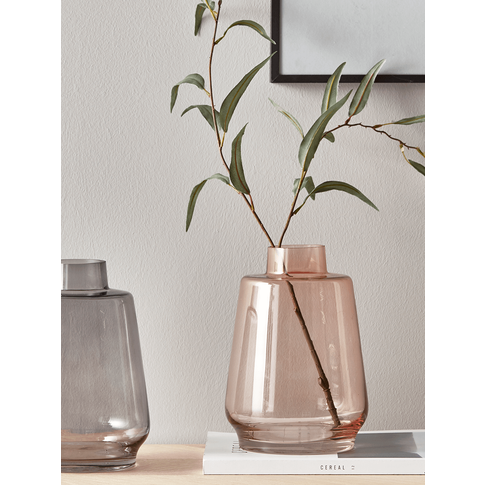Tapered Glass Vase - Blush