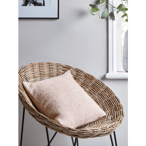 Soft Wool Cushion - Blush