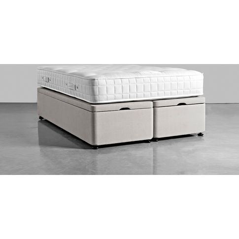 Double Storage Bed Base - Swedish Grey Cotton Velvet