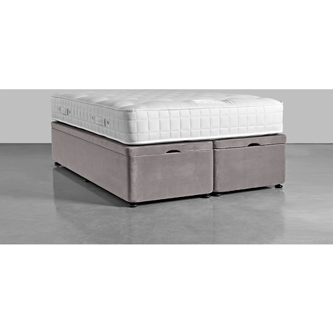 Double Storage Bed Base - Swedish Grey Cotton Velvet...