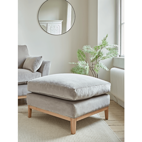 The Nordic Ottoman - Mallow Linen Cotton Blend