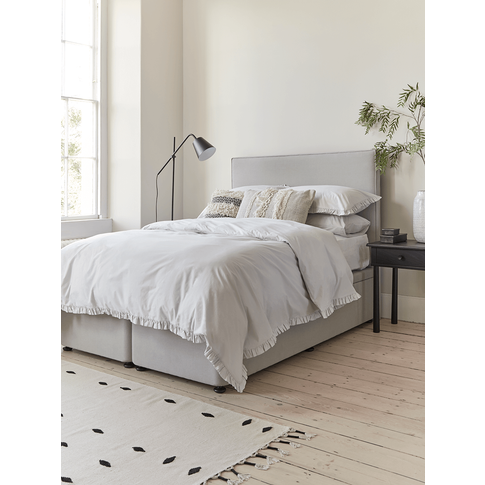 The Scandi Double Headboard - Birch Linen Cotton Blend