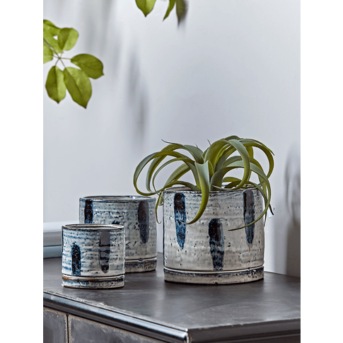 New Three Reactive Glaze Planters