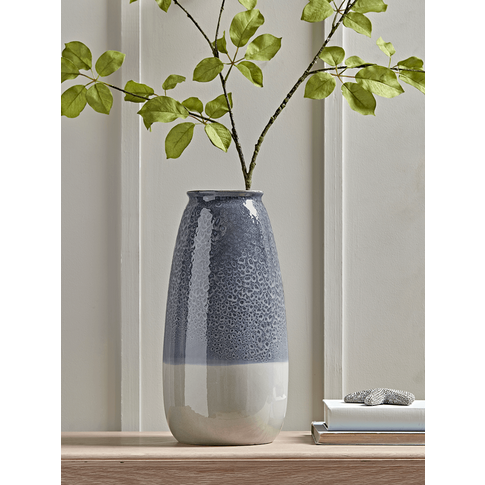 New Tall Dipped Blue Vase