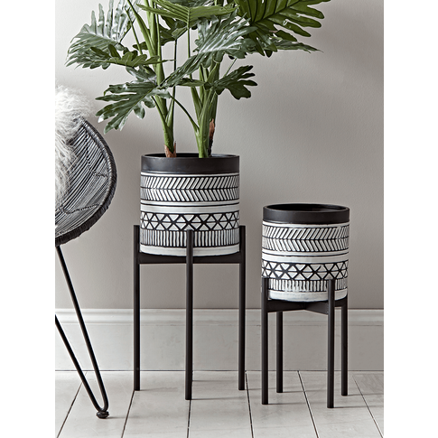 New Two Monochrome Standing Planters