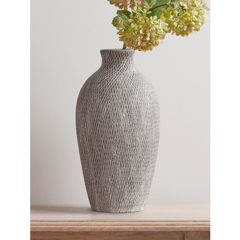 New Etched Grey Vase