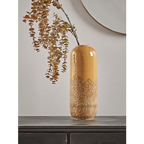 New Textured Glaze Mustard Vase