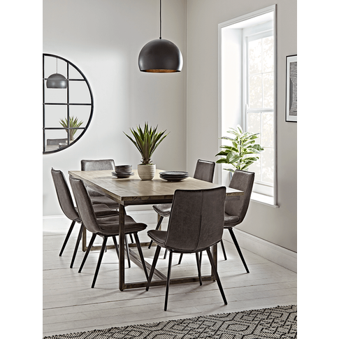 New Industrial Iron Dining Table