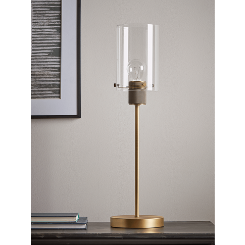 New Brass Stem Table Lamp