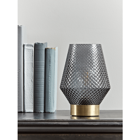 New Textured Led Table Lamp - Smoke