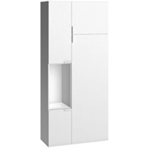 Vox 4 You 2 Door Cabinet With Built In Storage In White