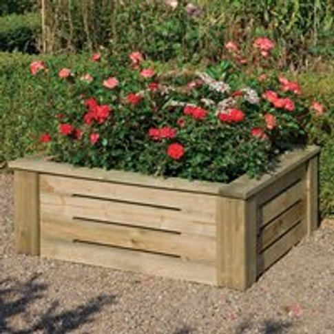 Rowlinson Raised Wooden Planter - 4x4