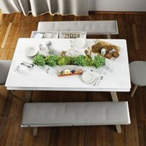 Vox 4 You Dining Table With Hidden Container In Whit...