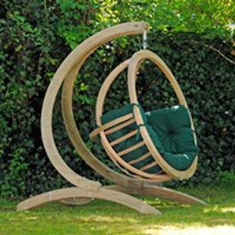 Globo Garden Hanging Chair & Stand in Weatherproof G...