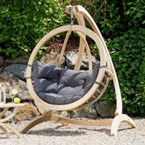 Globo Garden Hanging Chair & Stand in Weatherproof A...