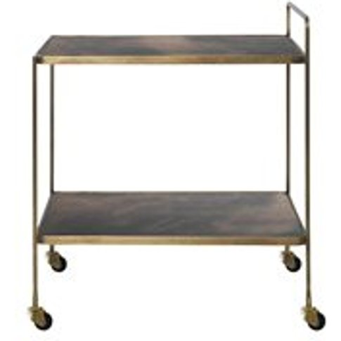 Cozy Living Anne Drinks Trolley in Antique Brass