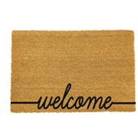 Artsy Doormats Welcome Door Mat - Black