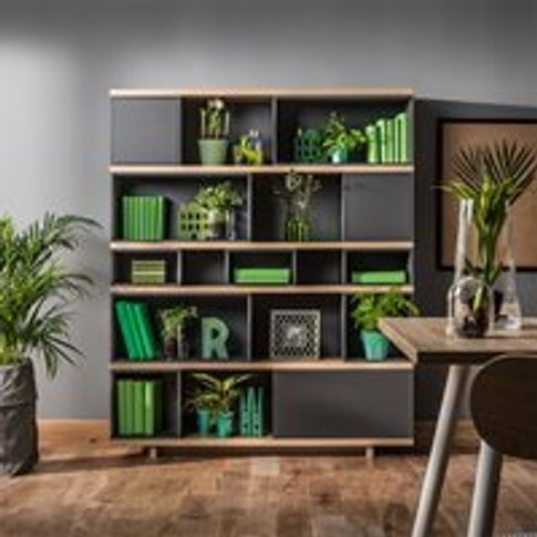 Vox Balance Modular Bookcase In Grey & Oak Effect