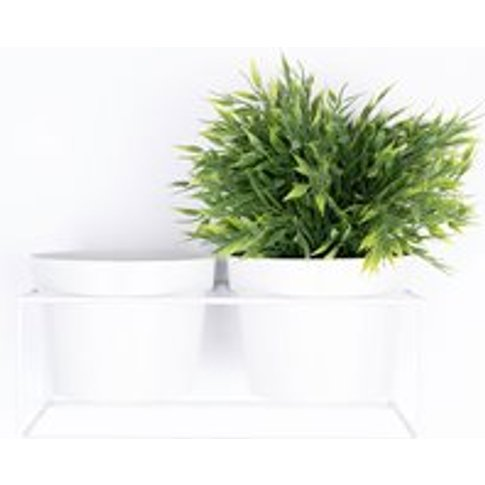 Bart White Metal Wall Planter