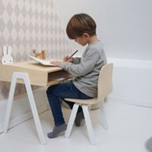 Large Children's Desk and Chair  - White