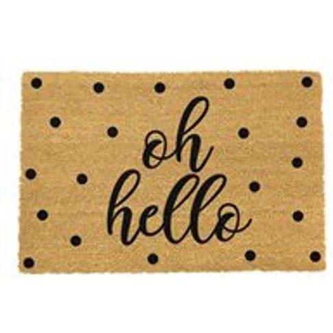 Artsy Doormats Oh Hello Door Mat - Black