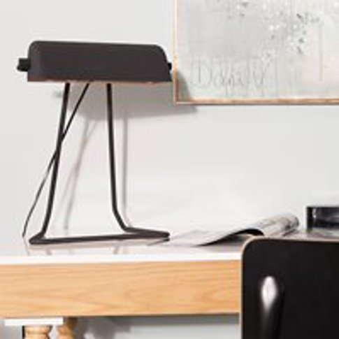 Zuiver Broker Vintage Style Desk Lamp In Black