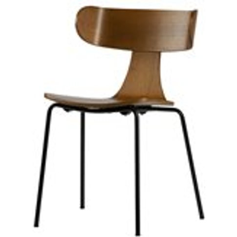 Pair Of Form Wooden Dining Chairs In Brown By Bepure...